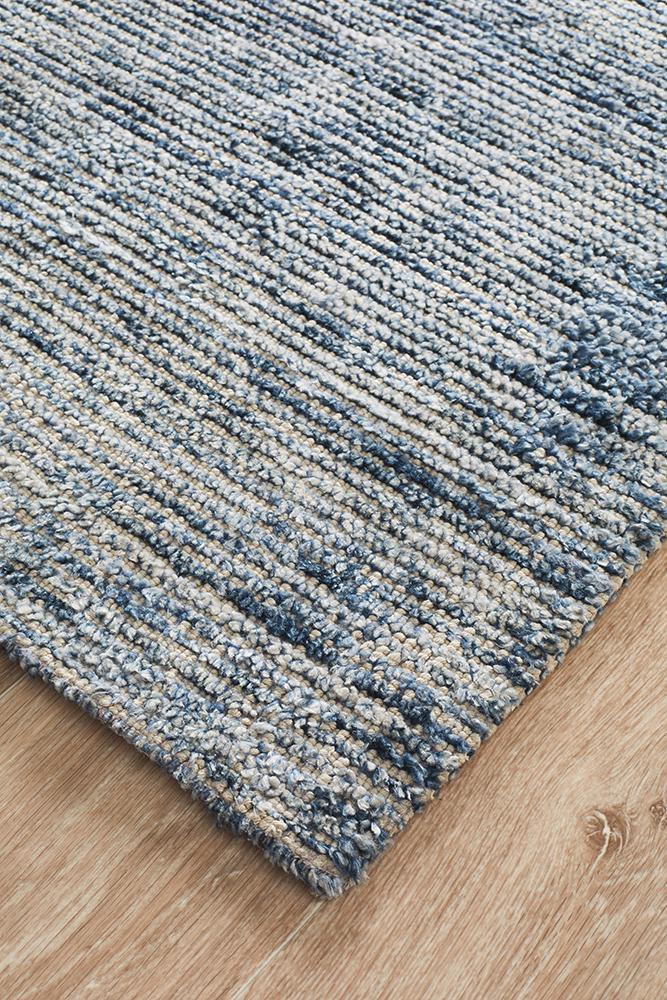 Cloud Indigo Cotton Rayon Rug