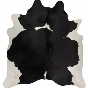 COWHIDE-NAT-BLACKW Cowhide Black Rug - The Flooring Guys