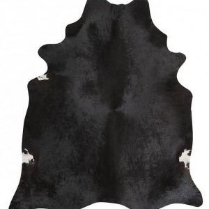 COWHIDE-NAT-BLACK Cowhide Black Rug - The Flooring Guys
