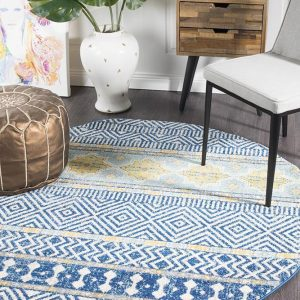 OAS-455-NAVY-RO Modern Navy Rug - The Flooring Guys