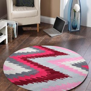 HV-630-BER-RO Modern Red Rug - The Flooring Guys