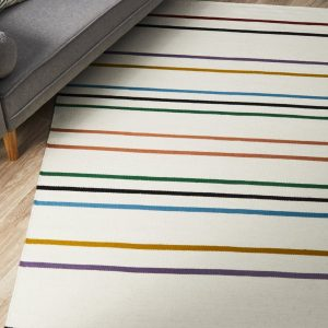 SKAN-306-WHI Flat Weave Multi Rug - The Flooring Guys