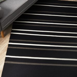 SKAN-306-BLA Flat Weave Multi Rug - The Flooring Guys