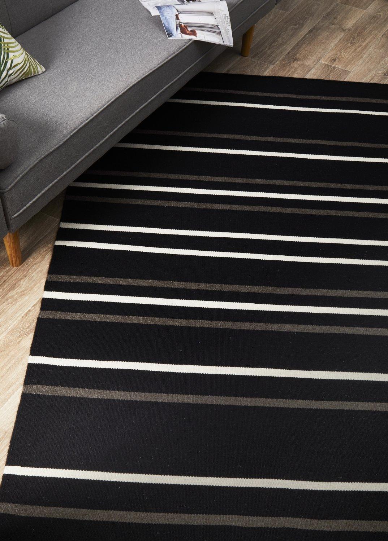 SKAN-306-BLA Flat Weave Multi Rug - The Flooring Guys