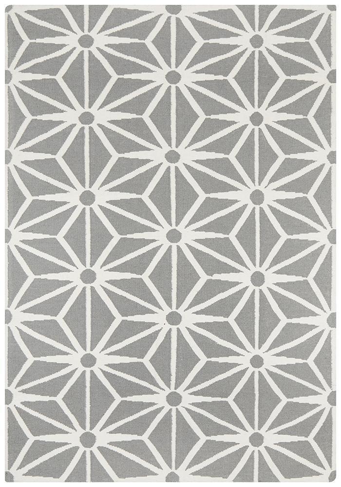 Dandelion Flat Weave Rug Grey