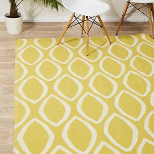 NOM-20-YELLOW Flat Weave Yellow Rug - The Flooring Guys