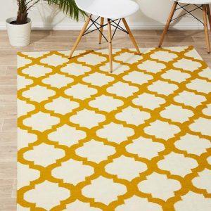 NOM-15-GOLD Flat Weave Gold Rug - The Flooring Guys