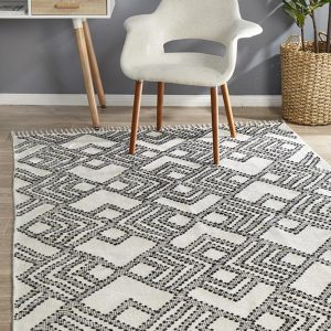 MIL-739-WHI Modern White Rug - The Flooring Guys