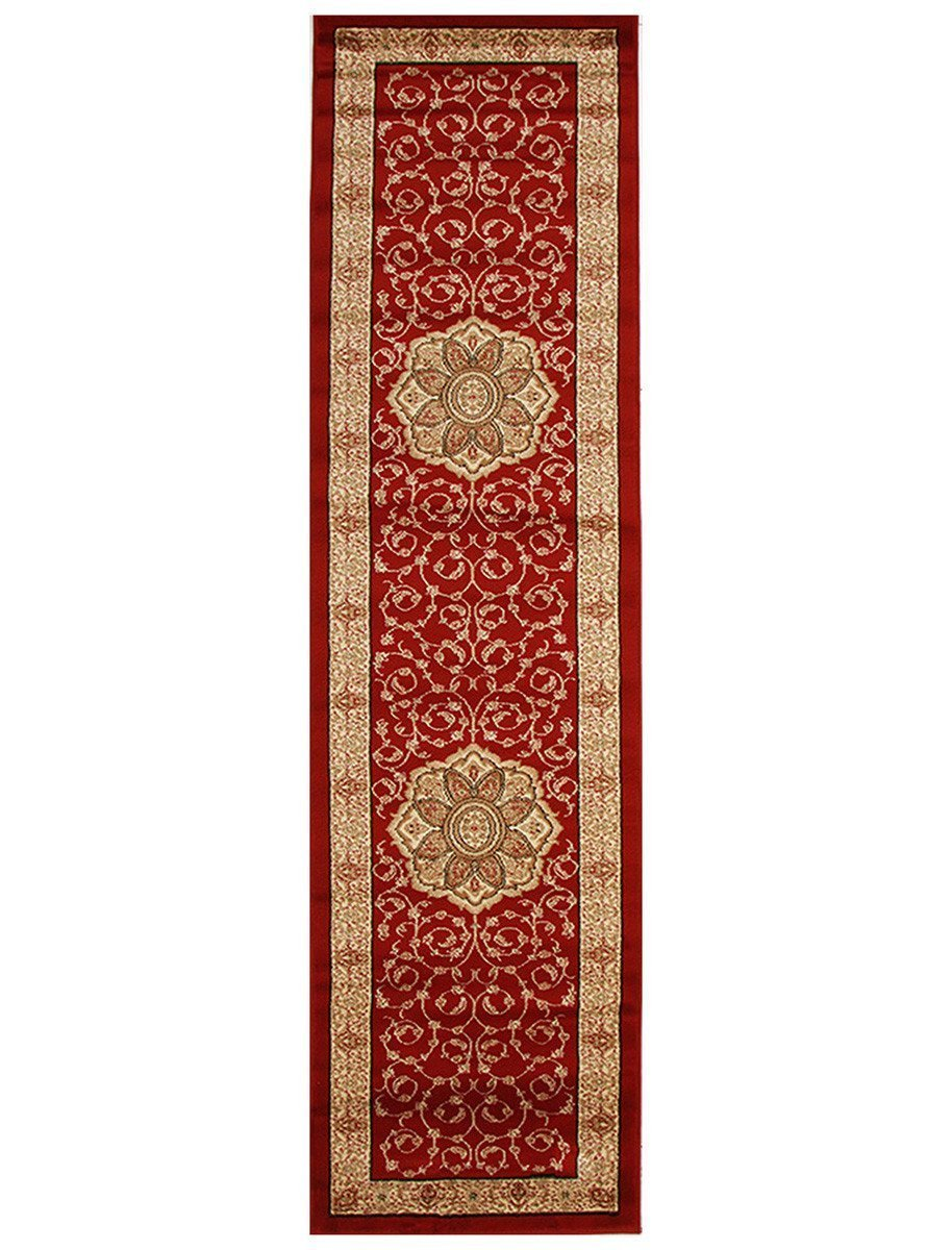 Medallion Classic Pattern Rug Red