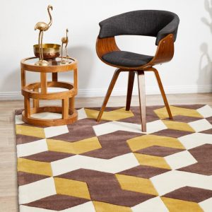 HV-647-YELL Modern Multi Rug - The Flooring Guys