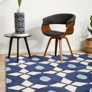 HV-643-NAVY Modern Navy Rug - The Flooring Guys