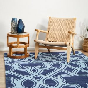 HV-641-NAVY Modern Navy Rug - The Flooring Guys