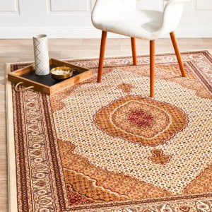 EMP-ARK-CRE Traditional White Rug - The Flooring Guys