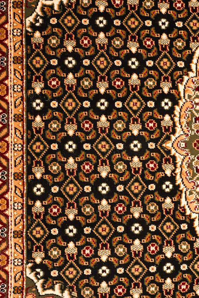 Stunning Formal Oriental Design Rug Black
