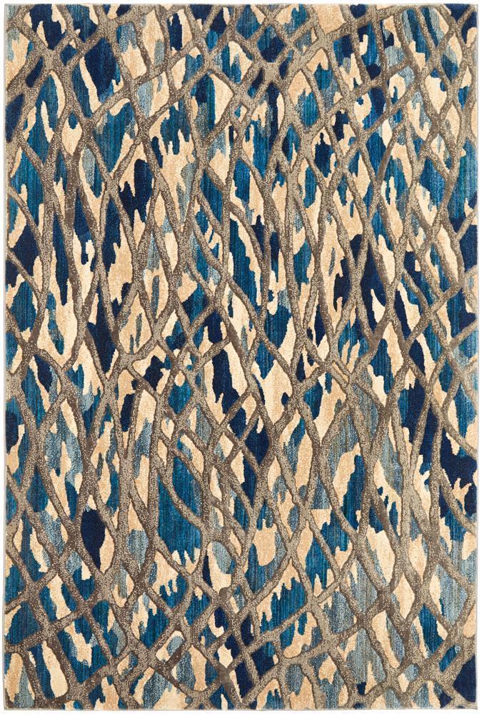 Ropes Modern Blue Rug