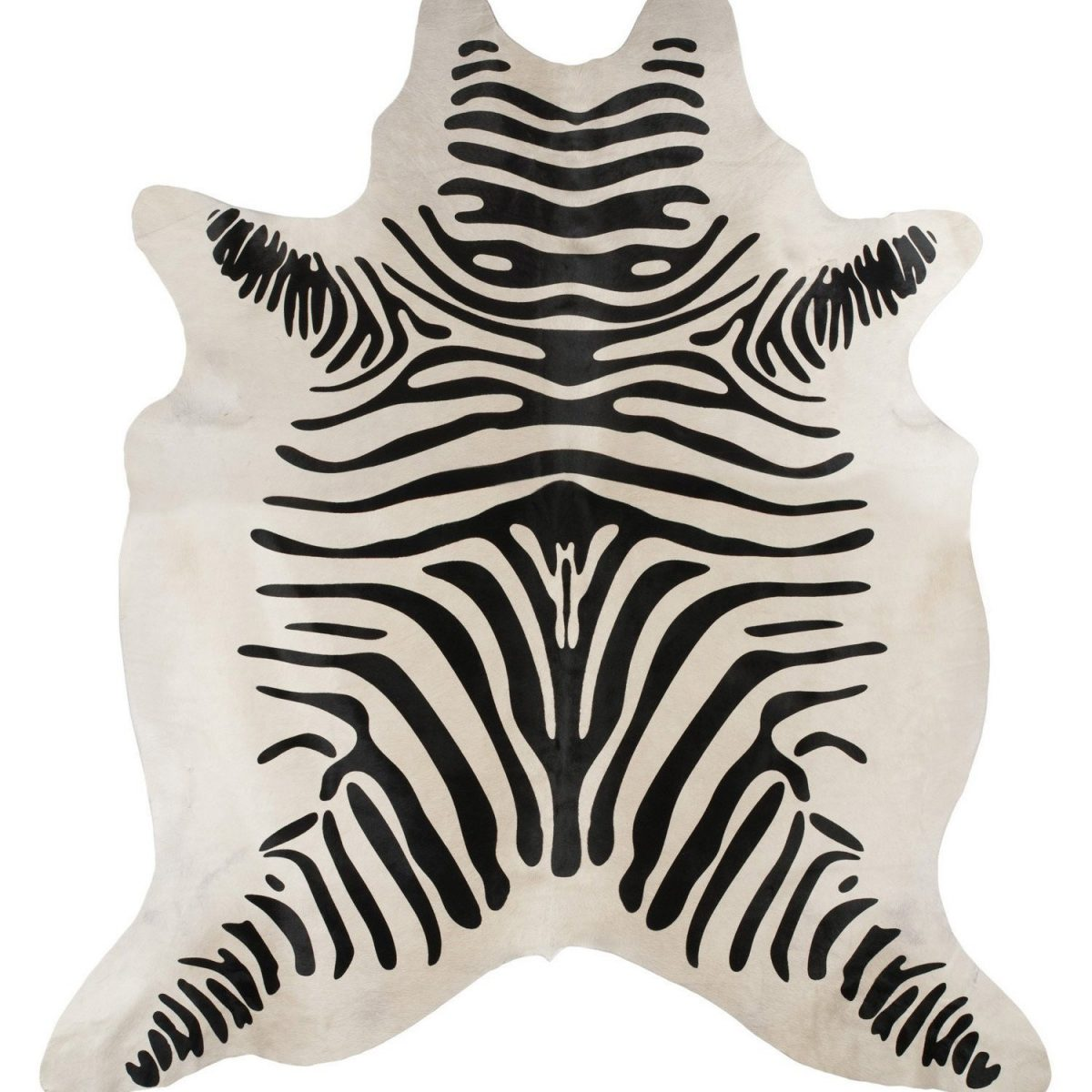 COWHIDE-ZEBRA Cowhide Multi Rug - The Flooring Guys