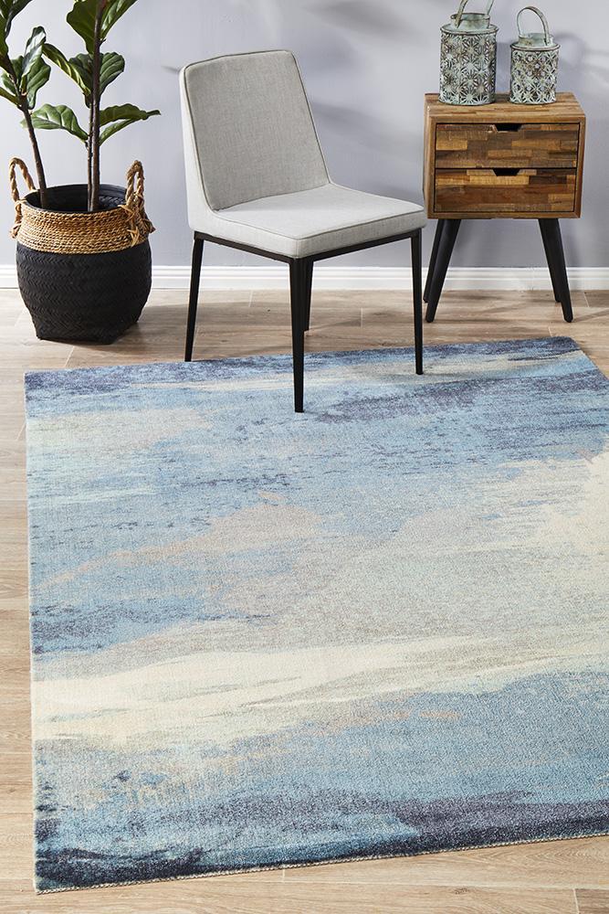 CIT-563-BLUE-RU Modern Blue Rug - The Flooring Guys