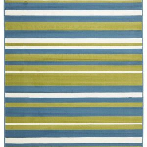 BCF-1114-U423 Modern Blue Rug - The Flooring Guys